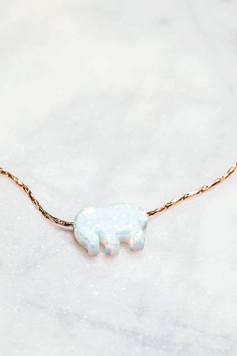 Ivory Ella Jewelry Rose Gold Opal Necklace
