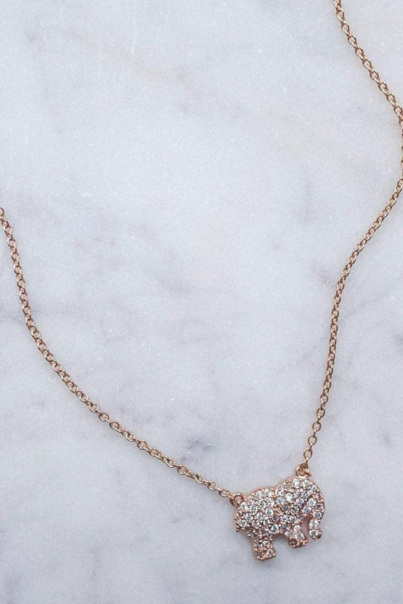 Rose Gold Pave Necklace