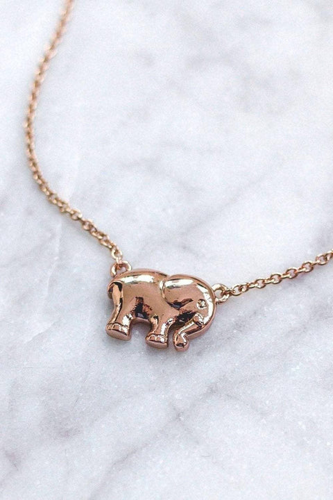 Ivory Ella Jewelry Rose Gold Rose Gold Solid Charm Necklace