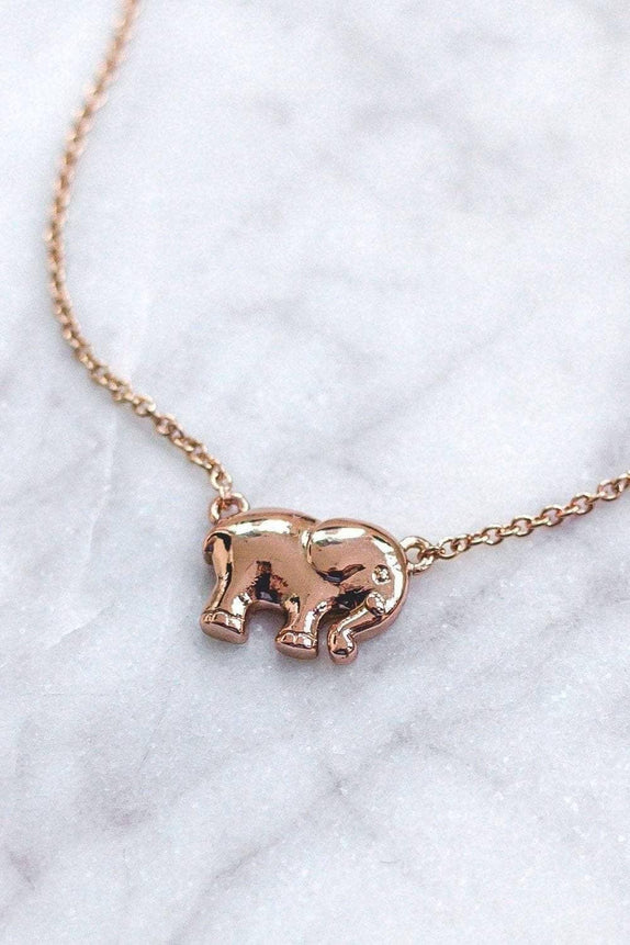 Rose Gold Solid Charm Necklace