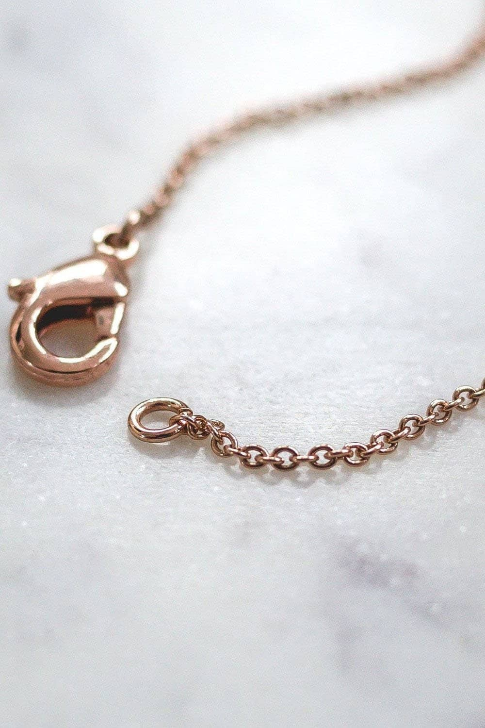 Rose Gold Solid Charm Necklace - Ivory Ella - Jewelry