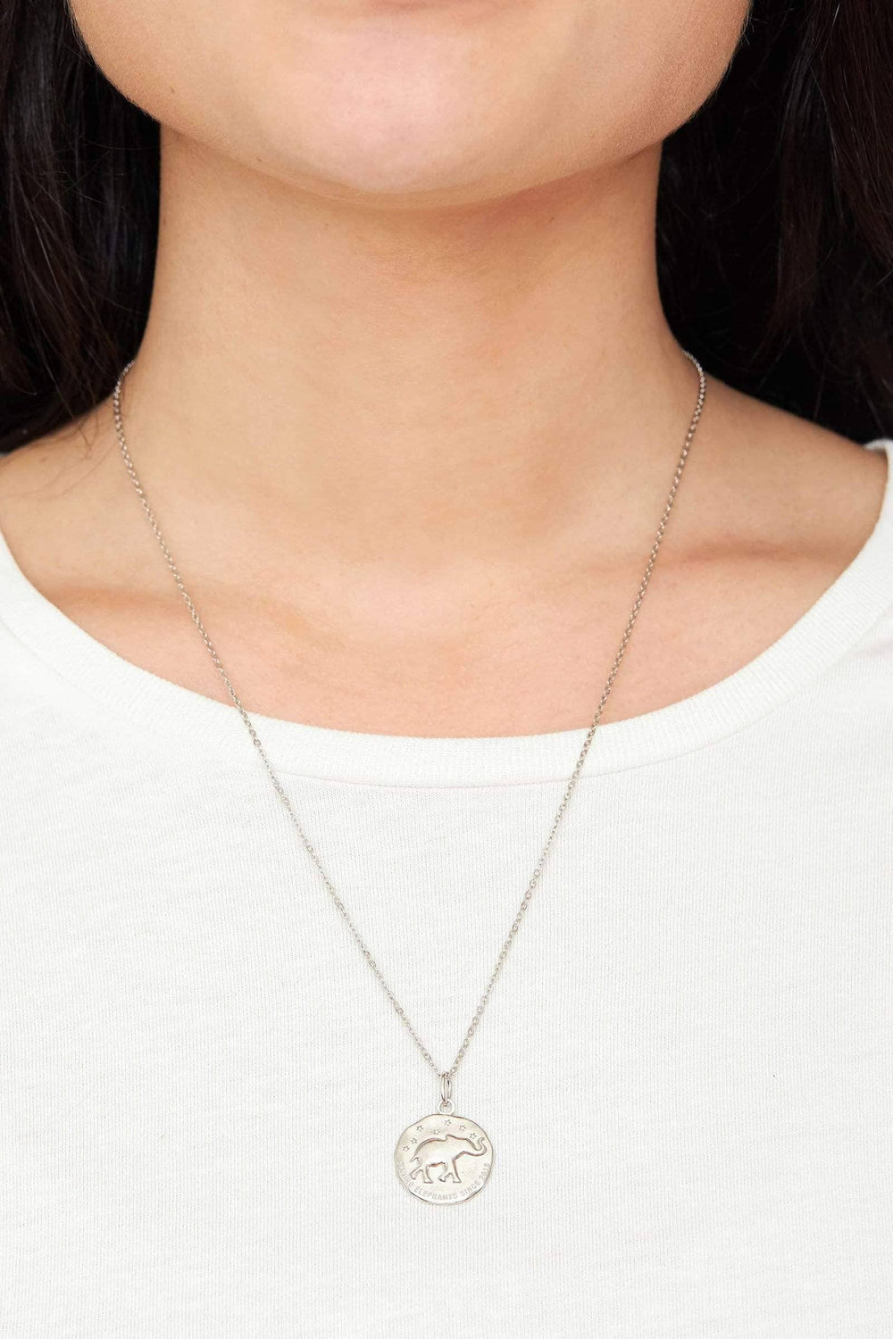 Ivory Ella Jewelry Silver Casted Coin Necklace