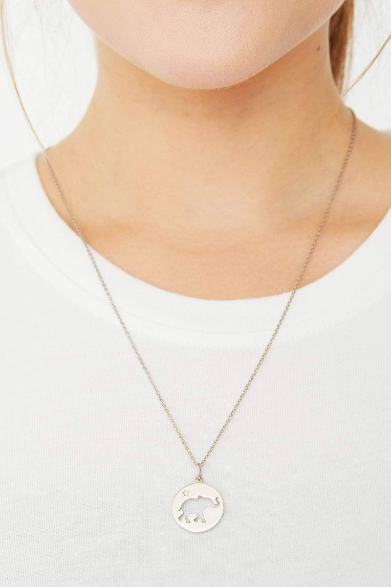 Ivory Ella Jewelry Silver Cut out Coin Necklace
