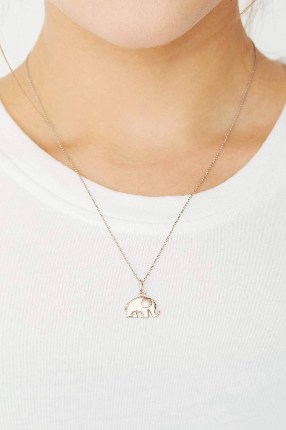 Ivory Ella Jewelry Silver Elephant Charm Necklace
