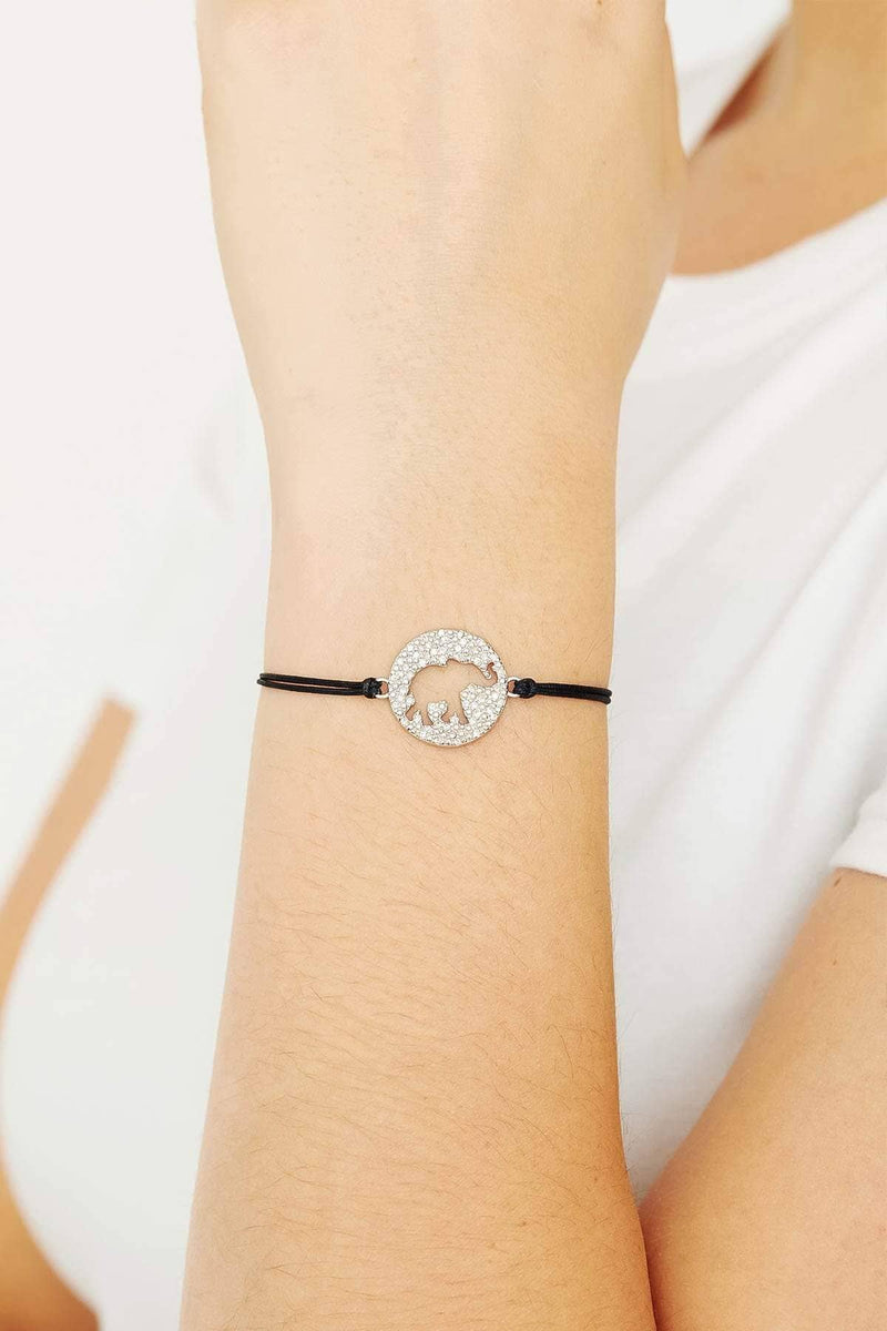 Ivory Ella Jewelry Silver Elephant Cut Out Bracelet