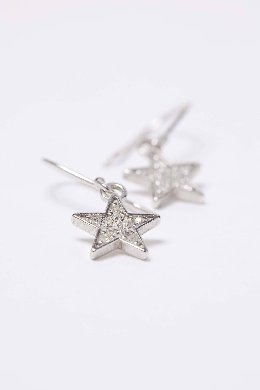 Ivory Ella Jewelry Silver Lucky Star Charm Earring