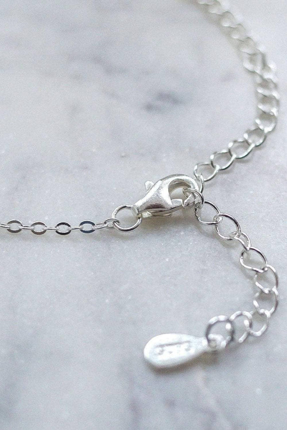 Silver Solid Charm Necklace