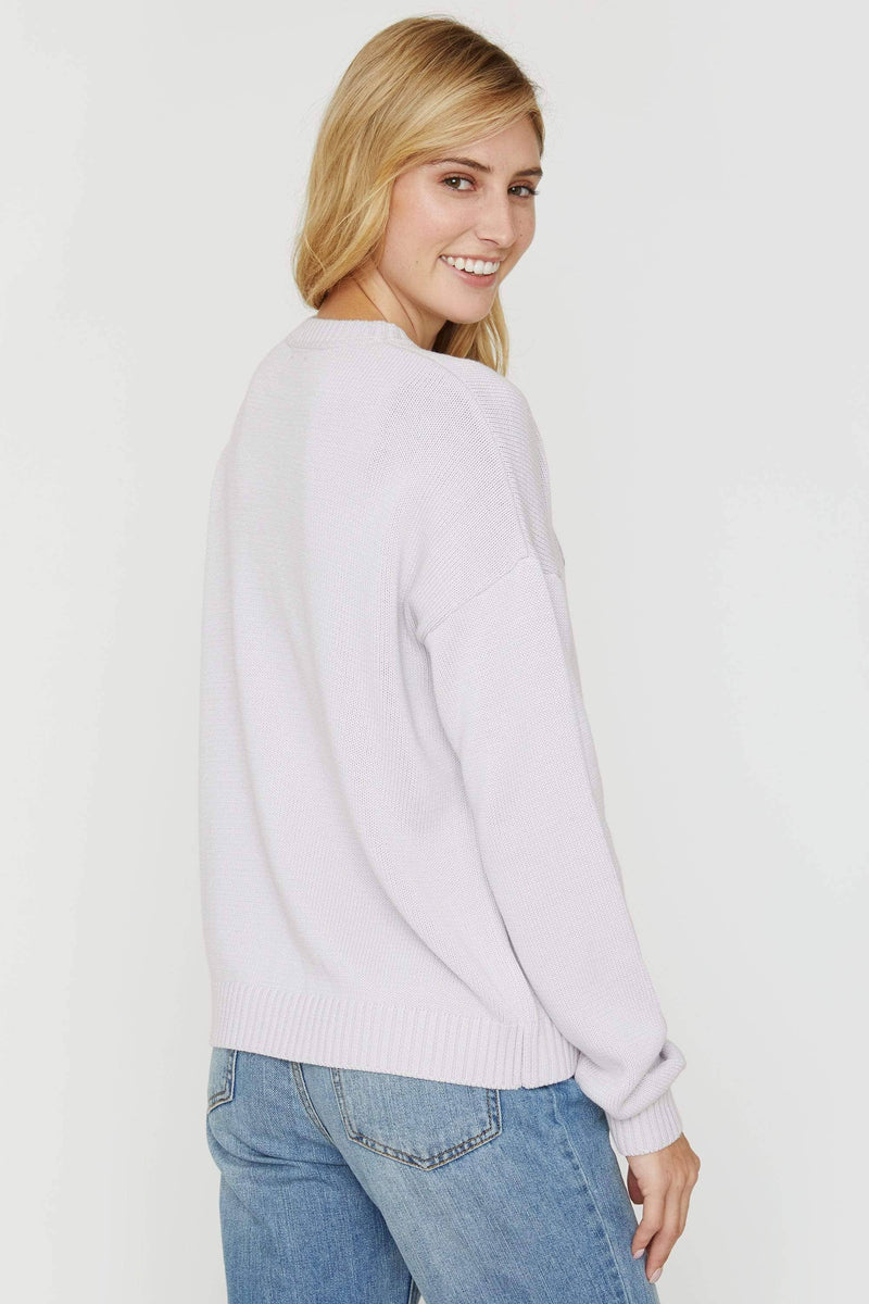 Lilac Marble Intarsia Sweater - Ivory Ella - Sweater