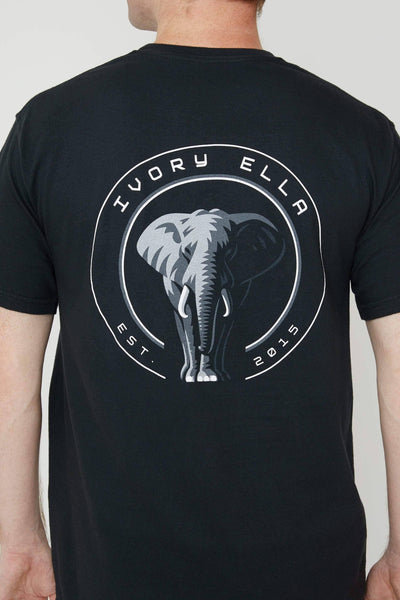 Black Stand Up For Elephants Classic Tee - Ivory Ella - Men's
