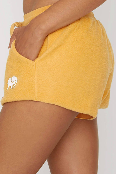 Ivory Ella Oak Buff Reverse Fleece Short