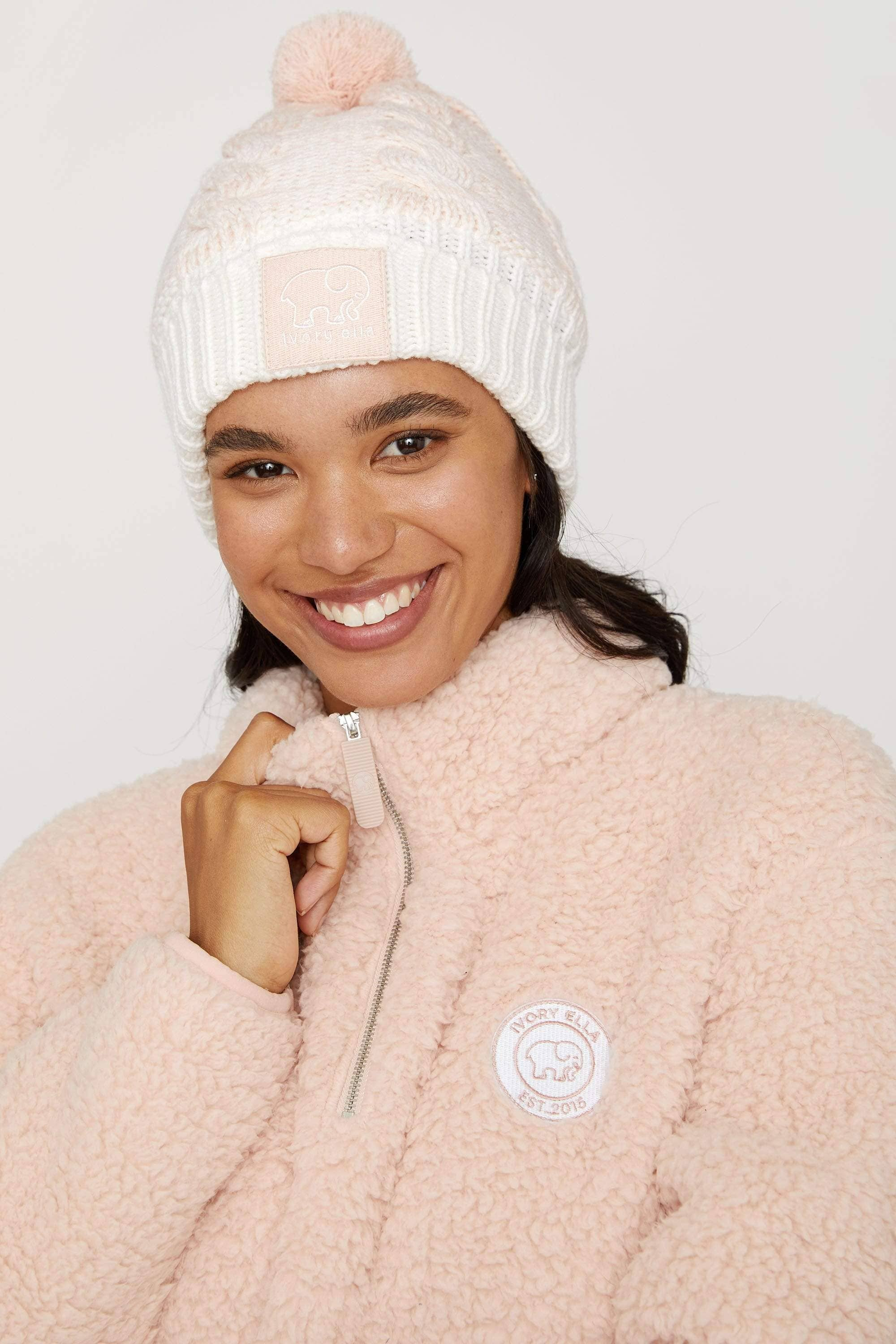 Pink Ombre Pom Pom Hat - Ivory Ella - Hats