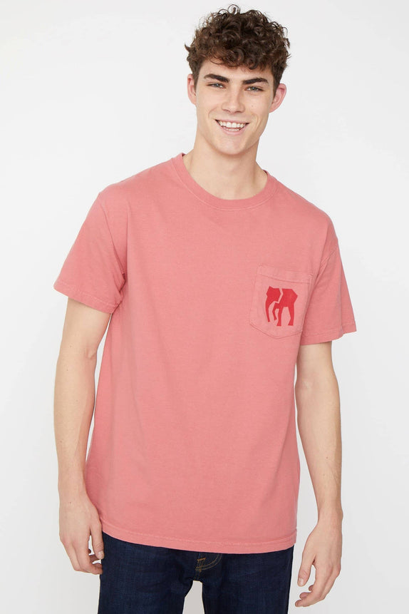 Brick Red Lets Save Our Elephants Classic Fit Tee