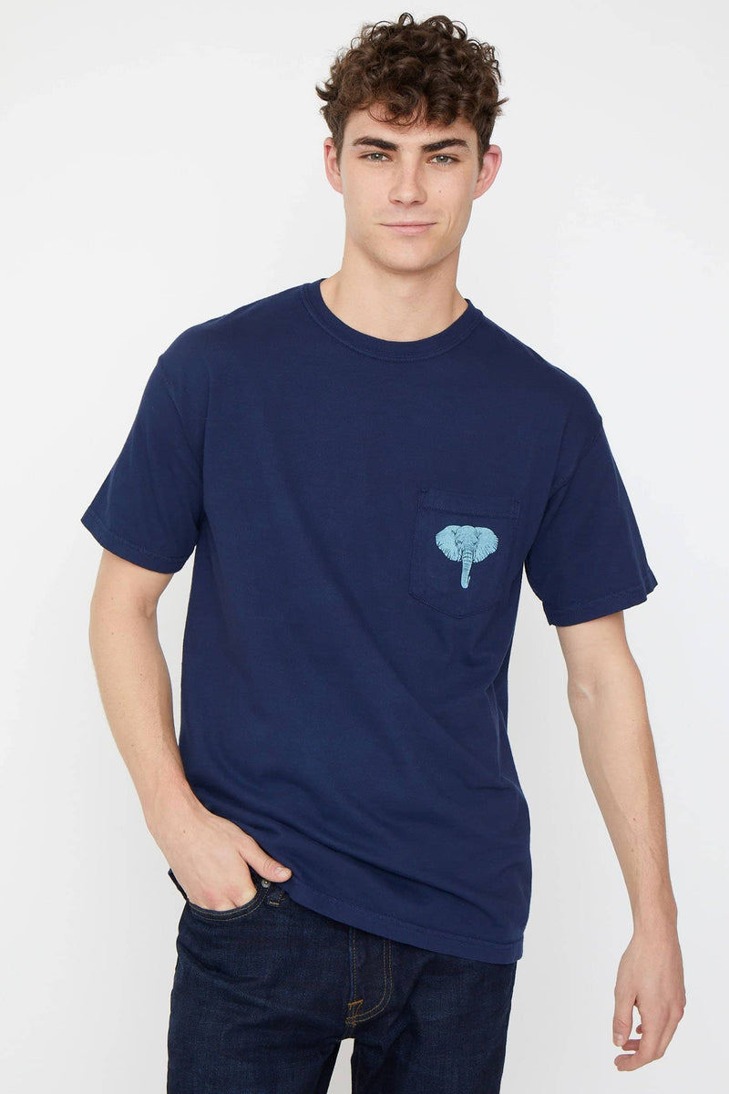 Ivory Ella S Dark Navy Satao The Elephant Classic Fit Tee