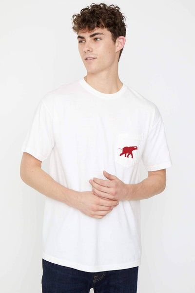 Soft White Feeling Lucky Classic Fit Tee - Ivory Ella - Men's