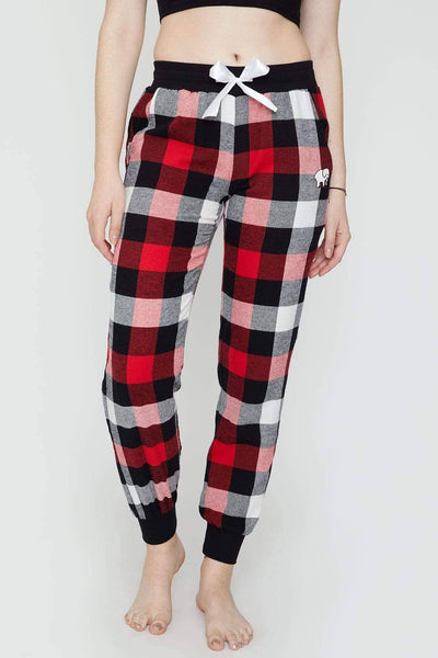 Ivory Ella Sleepwear Red Plaid PJ Pant