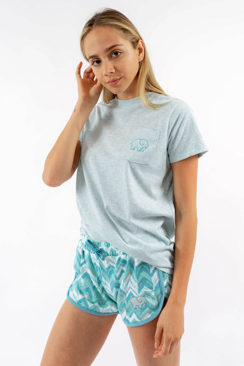 Ivory Ella Sleepwear XS Ella Fit Mint Heather Sleep Tee