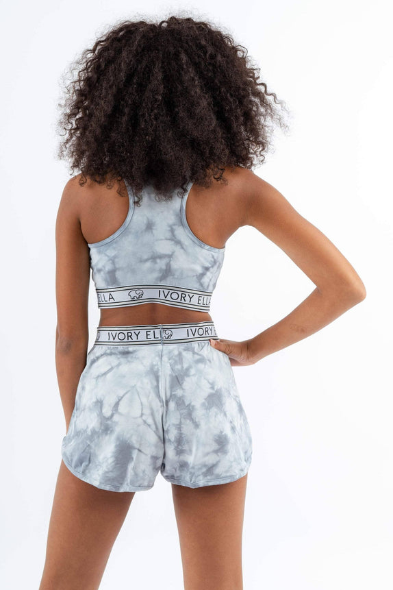 Grey Tie Dye Sleep Short