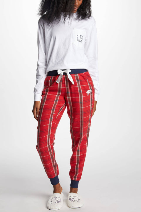 Ivory Ella Sleepwear XS Red Plaid PJ Pant