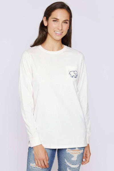 Ivory Ella Soft White Long Sleeve Signature Tee