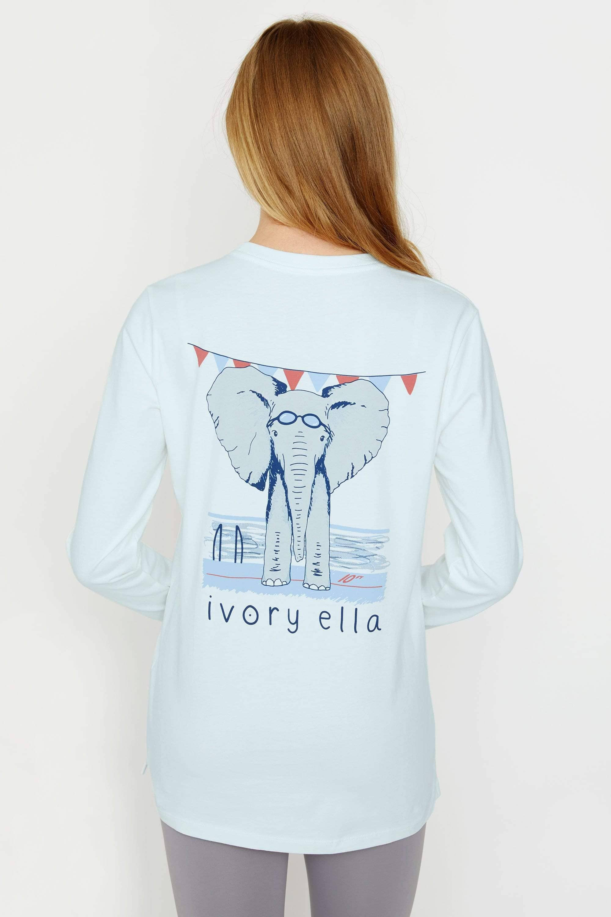 Ivory Ella Sports LS XXS Ella Fit Baby Blue Swimming Long Sleeve Tee