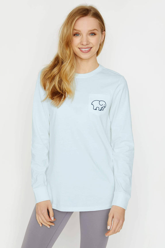 Ella Fit Baby Blue Swimming Long Sleeve Tee