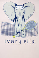 Ivory Ella Sports LS XXS Ella Fit Crystal Pink Tennis Long Sleeve Tee