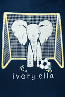Ivory Ella Sports LS XXS Ella Fit Dark Navy Soccer Long Sleeve Tee