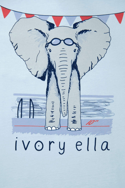 Ivory Ella Sports SS XXS Ella Fit Baby Blue Swimming Tee