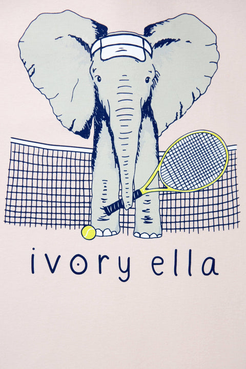 Ivory Ella Sports SS XXS Ella Fit Crystal Pink Tennis Tee