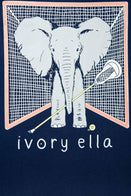 Ivory Ella Sports SS XXS Ella Fit Dark Navy New Lacrosse Tee