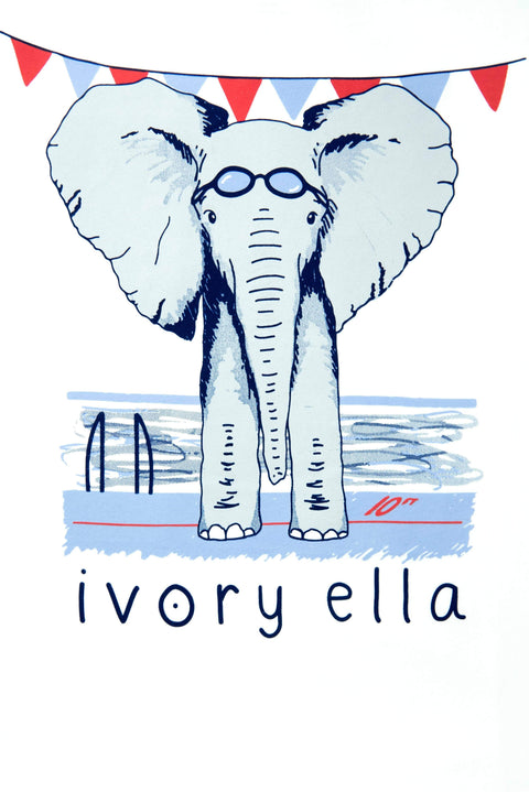 Ivory Ella Sports SS XXS Ella Fit Soft White Swimming Tee
