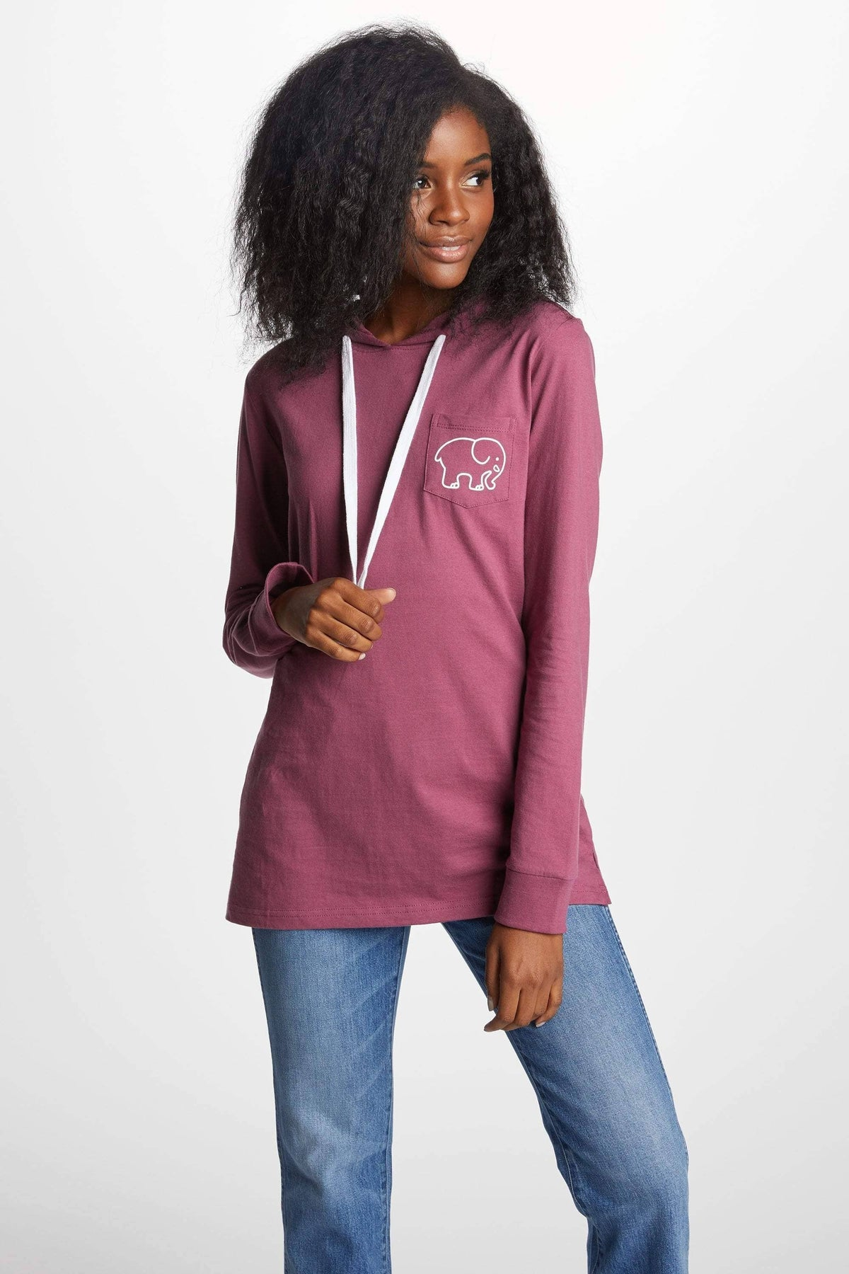 afb0c0438 Ivory Ella T-Shirt Hoodies XS Ella Fit Dusty Lavender Tee Shirt Hoodie