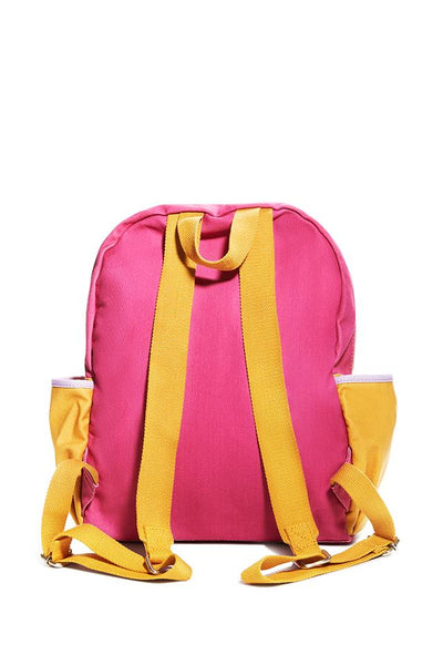 Ivory Ella W Bags Coral Colorblock Backpack
