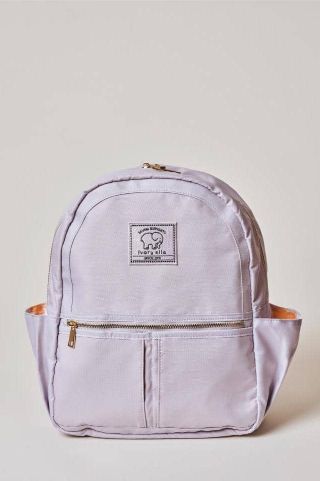Ivory Ella W Bags Lilac Solid Backpack