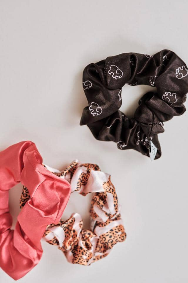Ivory Ella W Beauty Rosewater Leopard Scrunchie Set