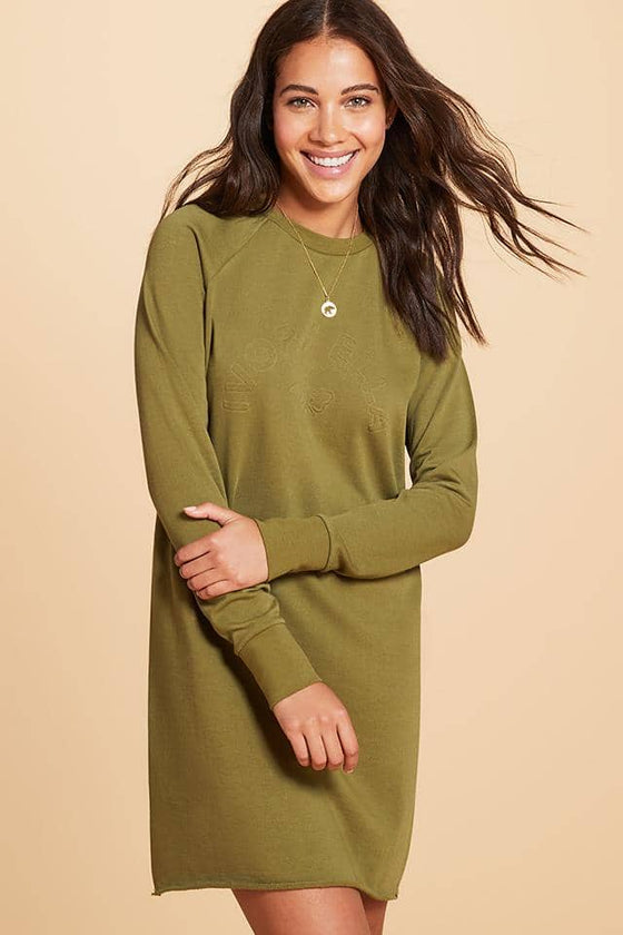 Half Circle Raglan Sweatshirt Dress