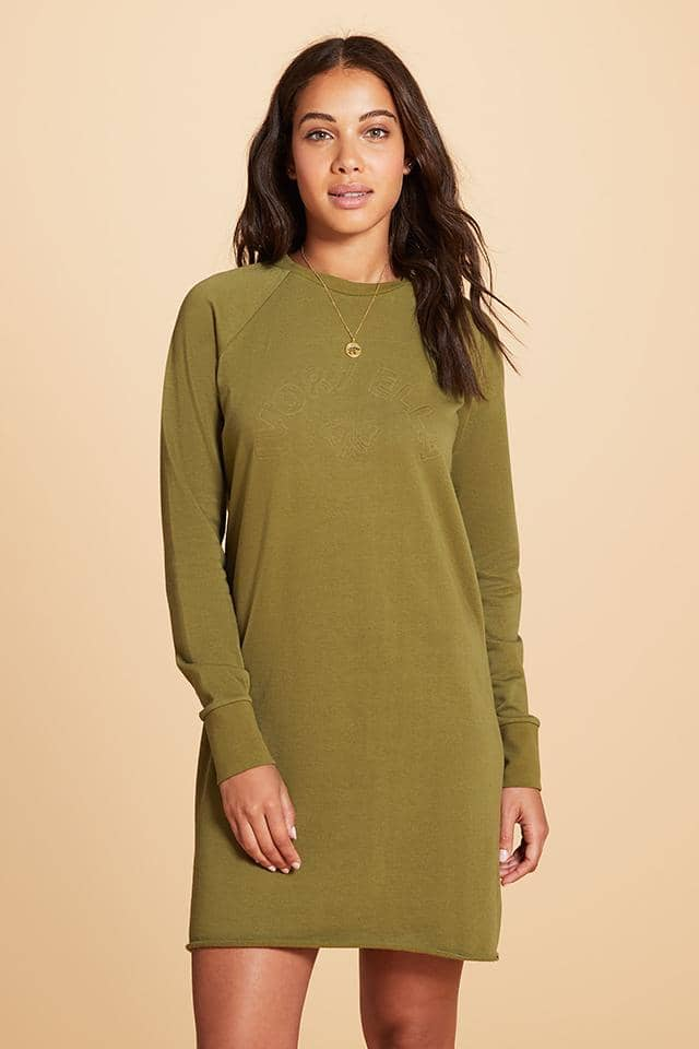 Ivory Ella W Dresses Half Circle Raglan Sweatshirt Dress