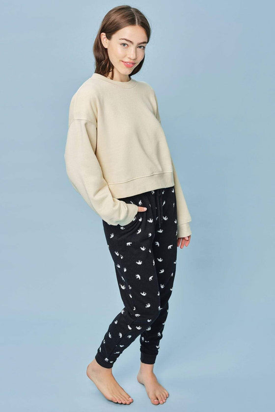 Black Tossed Elephant PJ Pant
