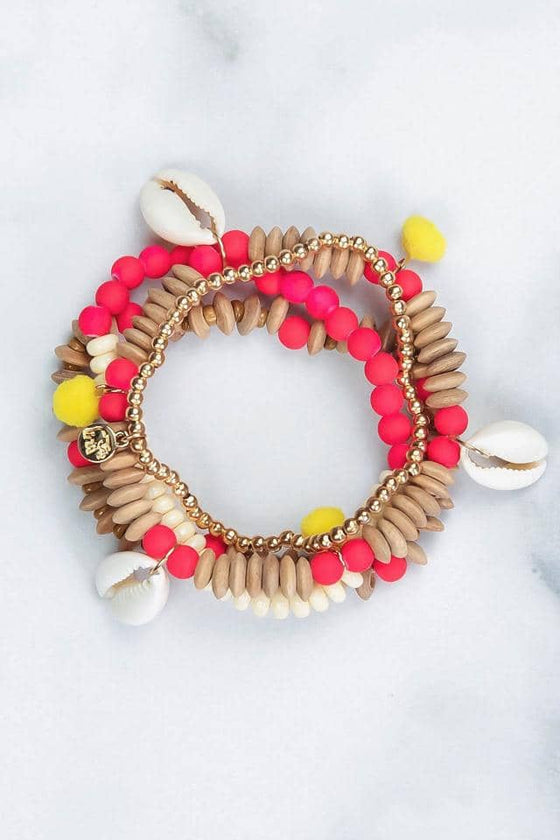Multi Shell Bracelet Set