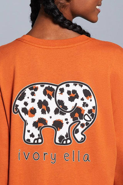 Ivory Ella W Long Sleeve Knits Big Cat Oversized Long Sleeve T-Shirt
