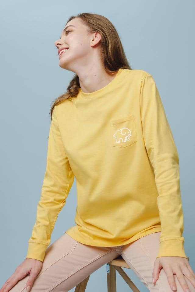Ella Regular Fit Femmes Long Sleeve (Buff Yellow / L)
