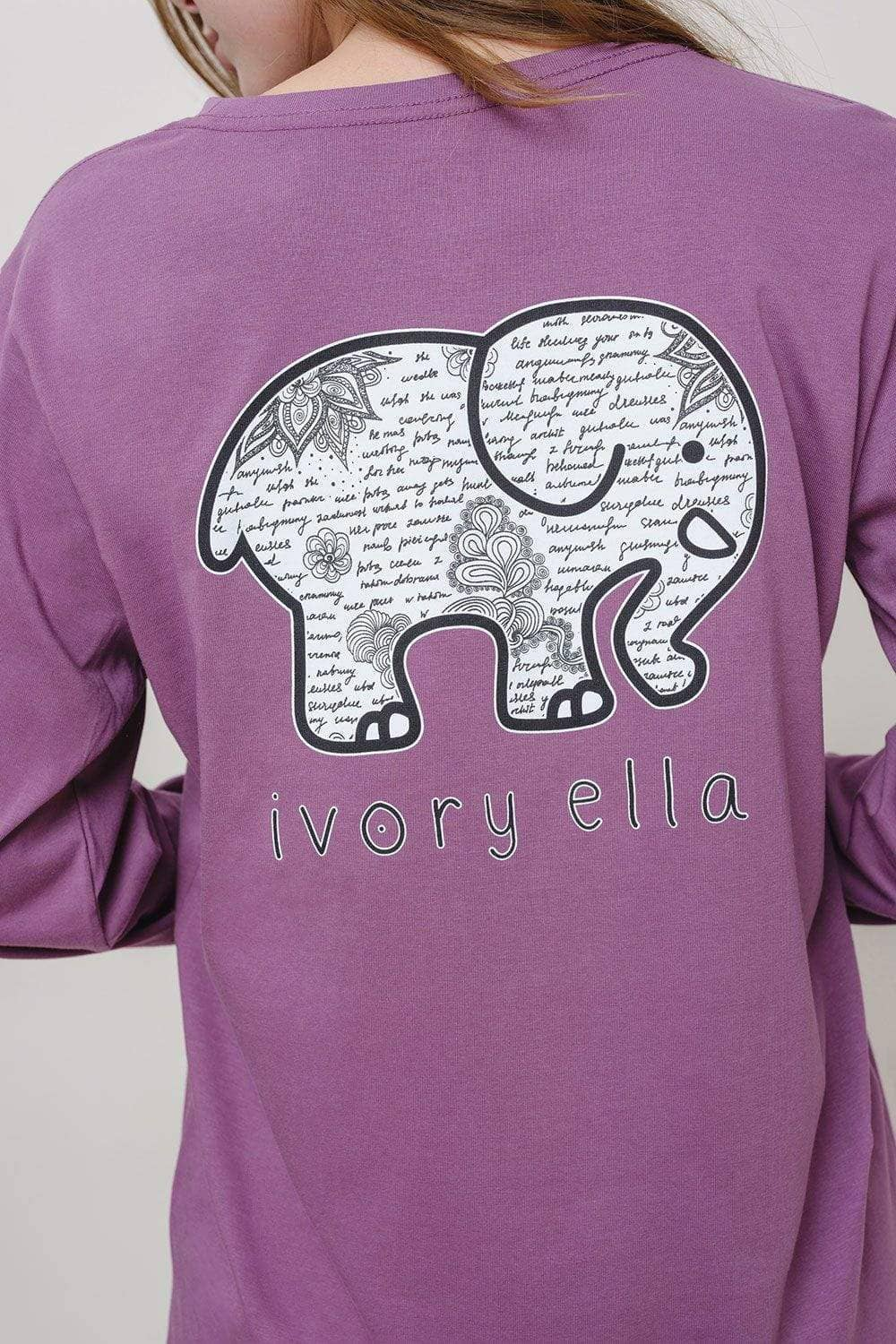 Ivory Ella W Long Sleeve Knits Ella Fit Notes Tee