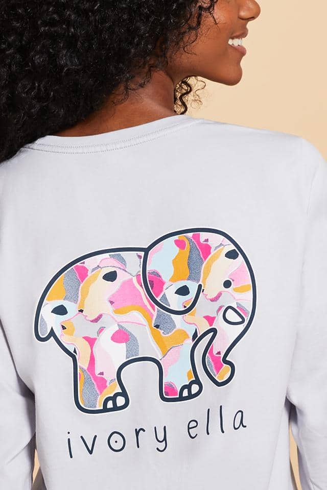 Ivory Ella W Long Sleeve Knits Heritage Lion Camo Long Sleeve T-Shirt