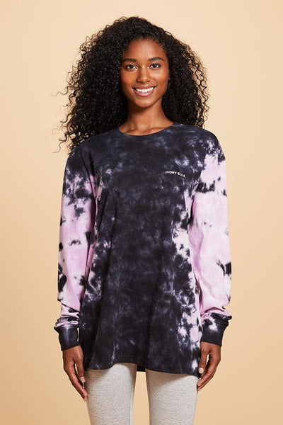 Ivory Ella W Long Sleeve Knits Orchid Tie Dye Oversized Long Sleeve T-Shirt