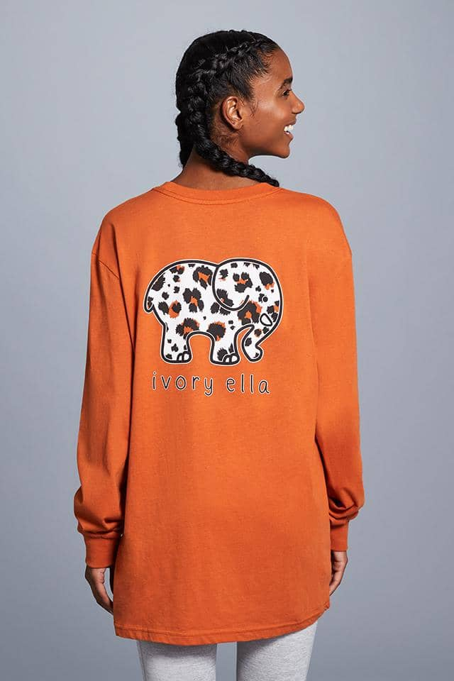 Ivory Ella W Long Sleeve Knits Rust / XXS Big Cat Oversized Long Sleeve T-Shirt