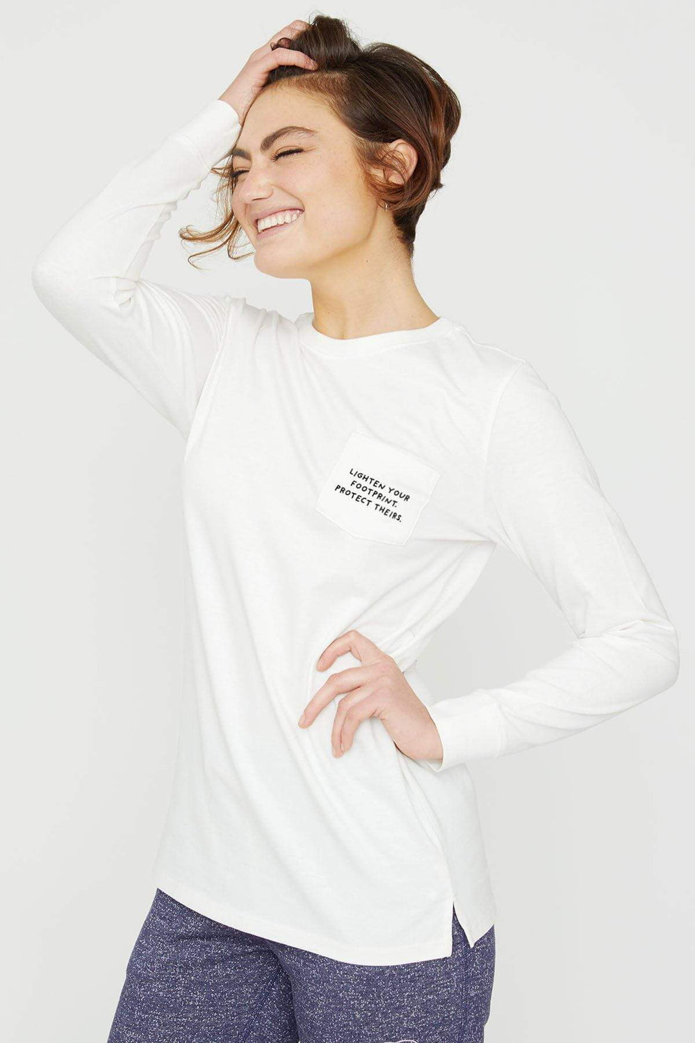 Ivory Ella W Long Sleeve Knits Save The Wild Ella Tee