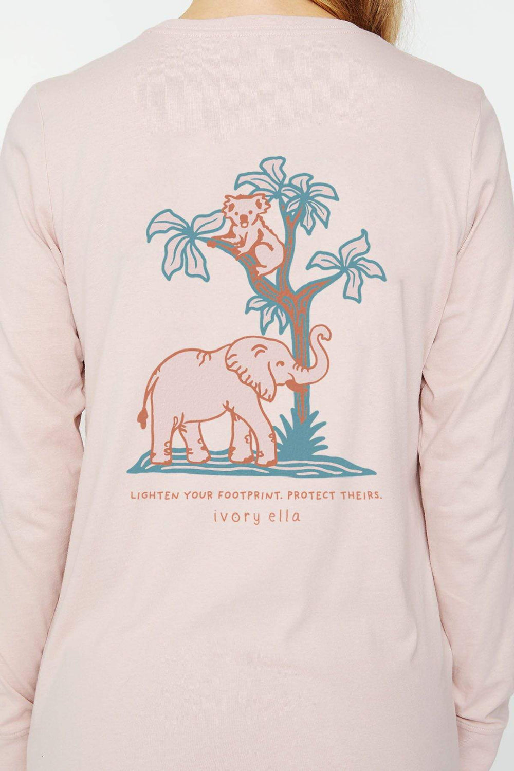Ivory Ella W Long Sleeve Knits Sepia Rose / L Sepia Rose Ella Fit Protect Theirs Tee