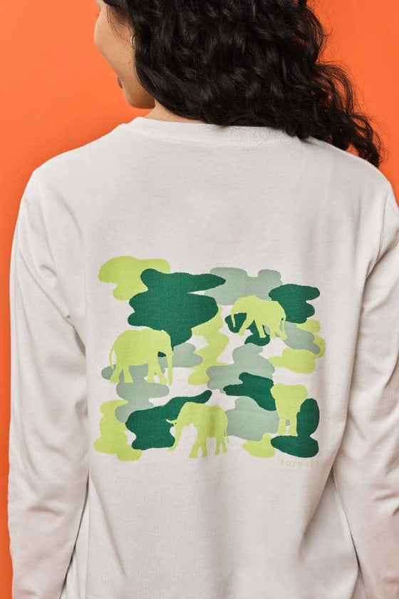 Ella Regular Fit Camo Long Sleeve