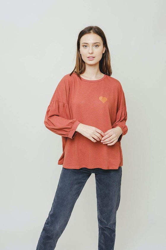 Alma Relaxed Fit Blouson Tee