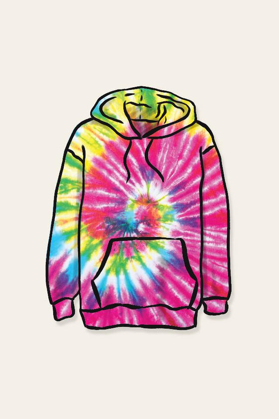 Multi Tie Dye Flat Sticker